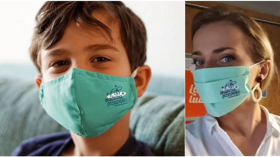 wolontariat wpandemii, maseczki Akademii Przyszłości